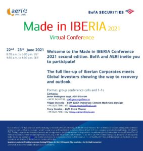 INVITATION MADE IN IBERIA Virtual Conference 22nd - 23rd June 2021